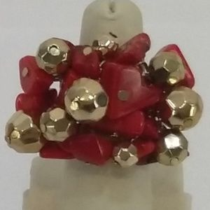 Jewelry - Multi Colored Stone & Bead Ring.
